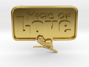 Magic-Love-Chameleon in Polished Brass