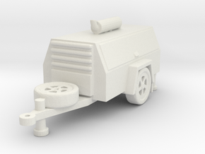 Compressor Trailer 1/87 in White Natural Versatile Plastic