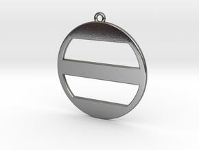 Ashikaga Mon Pendant - Japanese Family Crest in Polished Silver
