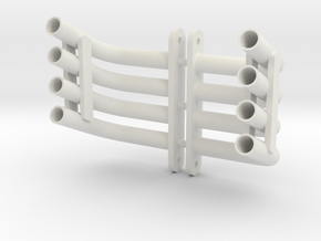 SMT10 Turn Down Headers in White Natural Versatile Plastic: 1:10