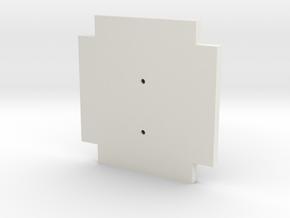 Life3D Capsule - Camera Plate Template in White Natural Versatile Plastic