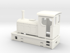 009 Freelance Diesel Loco in White Processed Versatile Plastic