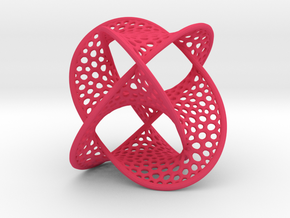 Borromean Rings Seifert Surface (5cm) in Pink Processed Versatile Plastic