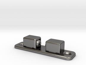 VaderROTJ DOOR CATCH fixed Hemispheres in Polished Nickel Steel