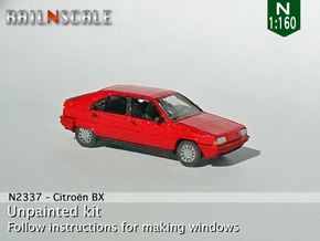 Citroën BX (N 1:160) in Smooth Fine Detail Plastic