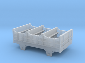 Broad Gauge 2nd Class 4-Wheel Coach (N Scale) in Smooth Fine Detail Plastic