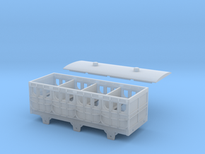 Broad Gauge 1st Class 6-Wheel Coach (N Scale) in Smooth Fine Detail Plastic