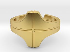 Knight Ring in Polished Brass: 8 / 56.75