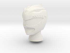8 in BITS Green Helmet in White Natural Versatile Plastic