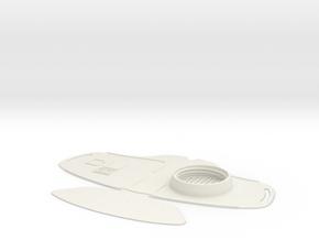 Face shield Mask in White Natural Versatile Plastic