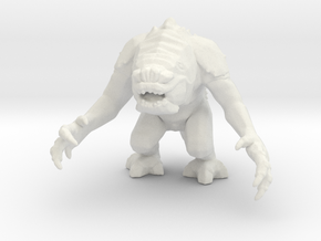 Rancor 6mm monster Infantry Epic micro miniature in White Natural Versatile Plastic