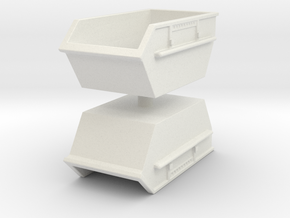 Construction Waste Container (x2) 1/120 in White Natural Versatile Plastic