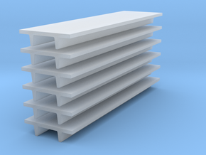 'N Scale' - (6) 8' Wide Double Tee x 30' Long x 24 in Smooth Fine Detail Plastic