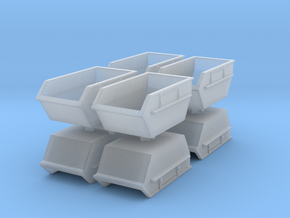 Construction Waste Container (x8) 1/220 in Smooth Fine Detail Plastic