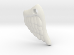 Wing Pendant in White Natural Versatile Plastic