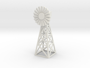 Steel Windmill 1/43 in White Natural Versatile Plastic