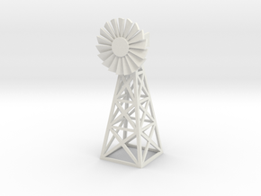 Steel Windmill 1/12 in White Natural Versatile Plastic