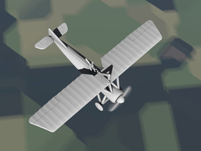 Morane-Saulnier Type P (French MoS.21) in White Natural Versatile Plastic: 1:144