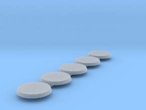 Diamond Bases 40mm round x5 in Smooth Fine Detail Plastic