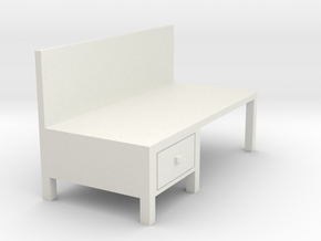 Workbench Table 1/48 in White Natural Versatile Plastic