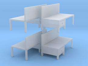 Workbench Table (x4) 1/144 in Smooth Fine Detail Plastic