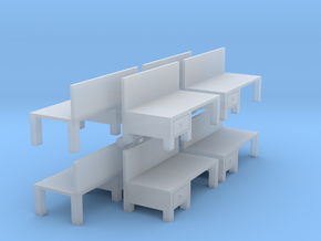 Workbench Table (x8) 1/220 in Smooth Fine Detail Plastic