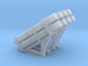 Harpoon missile launcher 4 pods x 2 1/200 in Smoothest Fine Detail Plastic