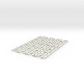 Dual Gauge Baulk Road Sleepers Multipack (N Scale) in White Natural Versatile Plastic