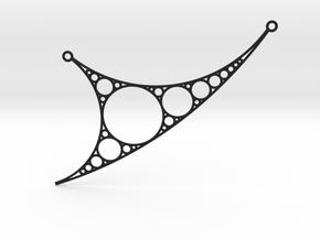 Apollonian Necklace - Version 2 in Black Natural Versatile Plastic