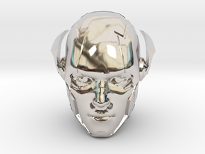 The Flash Head | CCBS Scale in Rhodium Plated Brass