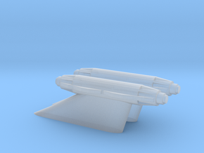 2 Pulse Phasers - 350 Scale in Smooth Fine Detail Plastic