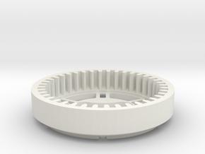 Inner Gear Wheel (Lego Technic Compatible) in White Natural Versatile Plastic