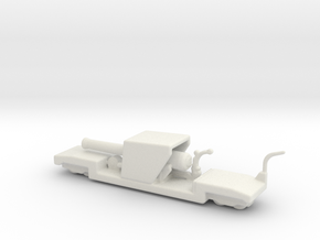 9.2 mk 1a truck 1/285 6mm ww1 railway artillery  in White Natural Versatile Plastic