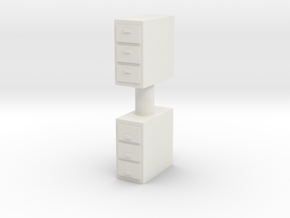 Office Cabinet (x2) 1/43 in White Natural Versatile Plastic
