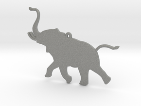 Trumpeting Elephant in Gray PA12