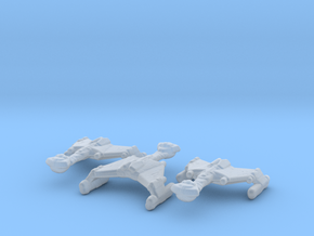 Klingon Warbird 1/20000 x3 in Smooth Fine Detail Plastic