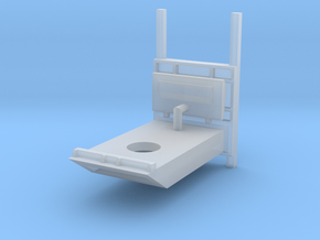 1/64 Blue silo bottom unloader base in Smooth Fine Detail Plastic