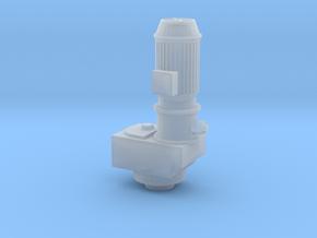 1/64 Blue silo xl unloader vertical  Motor/gearbox in Smooth Fine Detail Plastic
