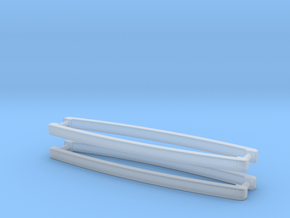 1:12 Curved Fridge/Oven Handles (4 pc) in Smooth Fine Detail Plastic