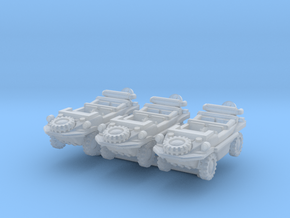 Schwimmwagen (x3) 1/220 in Smooth Fine Detail Plastic
