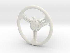 RCN260 Steering Wheel for PL Bronco 1966 in White Natural Versatile Plastic