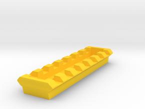MPX 7 Slots Picatinny Rail in Yellow Processed Versatile Plastic