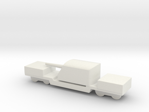ta 120 40 1/285 6mm Italian railway artillery in White Natural Versatile Plastic