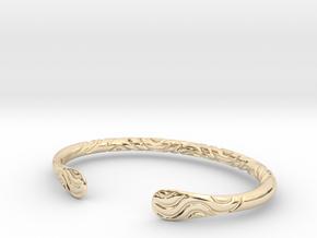 Bracelet Weave Ornament in 14k Gold Plated Brass