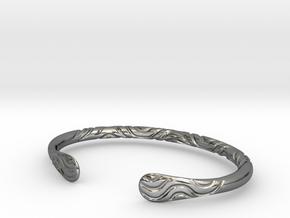 Bracelet Weave Ornament in Fine Detail Polished Silver