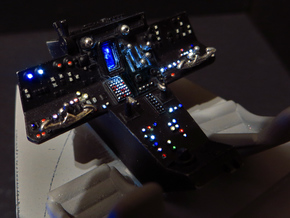 YT1300 DEAGO CABIN COCKPIT CONSOLE DRILLED in Smooth Fine Detail Plastic