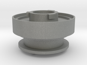 30mm Round to 3M adapter v3 in Gray PA12