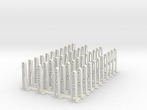 PRR HANDRAIL HO SCALE bunch in White Natural Versatile Plastic