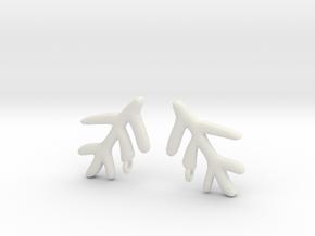 Elder Sign Earring (Pair) in White Natural Versatile Plastic