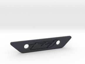 flat footpeg plate - fz1 logo in Black PA12